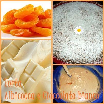Torta albicocche e cioccolato bianco