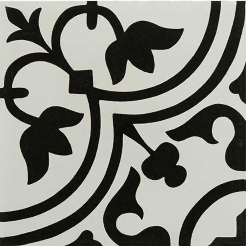 Decorative Porcelain Tile Awesome Tileryhydraulicblackporcelaindecorativetile12X12  N Inspiration Design