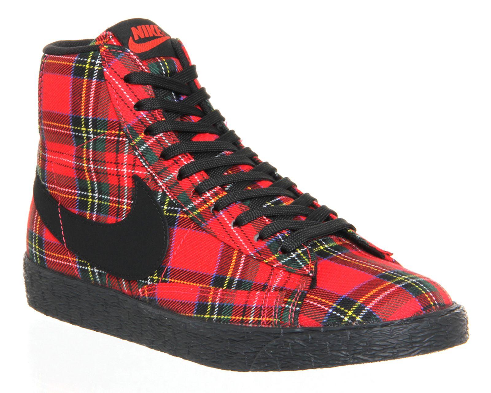 Nike Blazer Mid Action Red Black Plaid