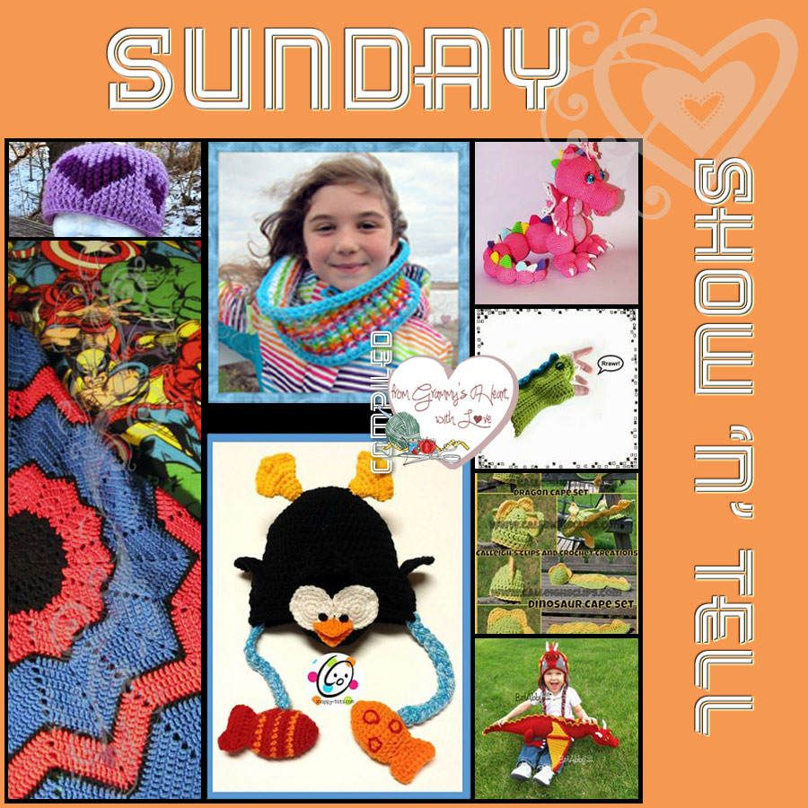 It's the last Sunday of January; it's still time for Show n Tell! This week's Show 'n' Tell is all about the kiddies. Hour on the hour is Show n Tell time!
