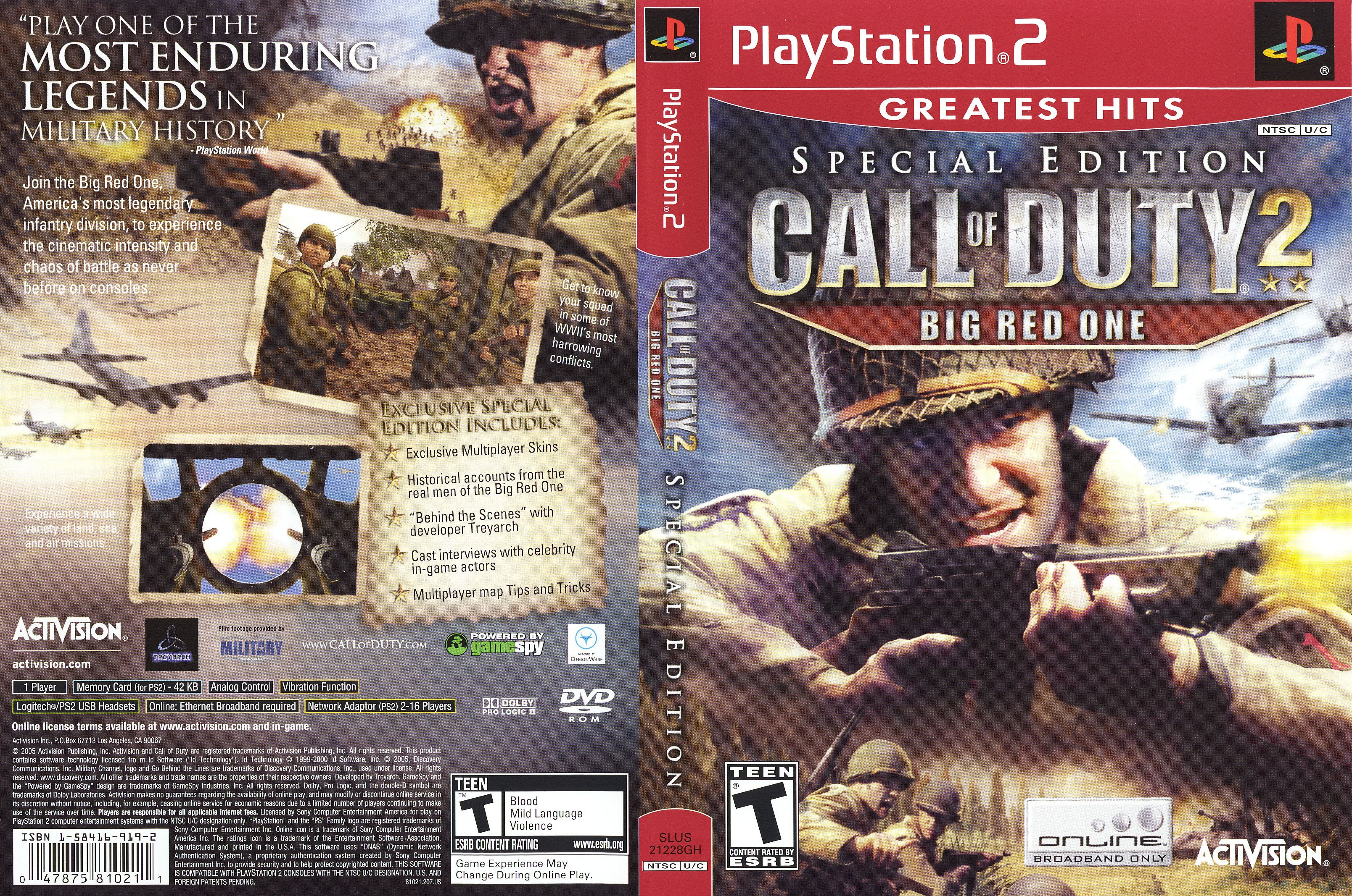 Call Of Duty 2 The Big Red One The Big Red One Book Cover Military History