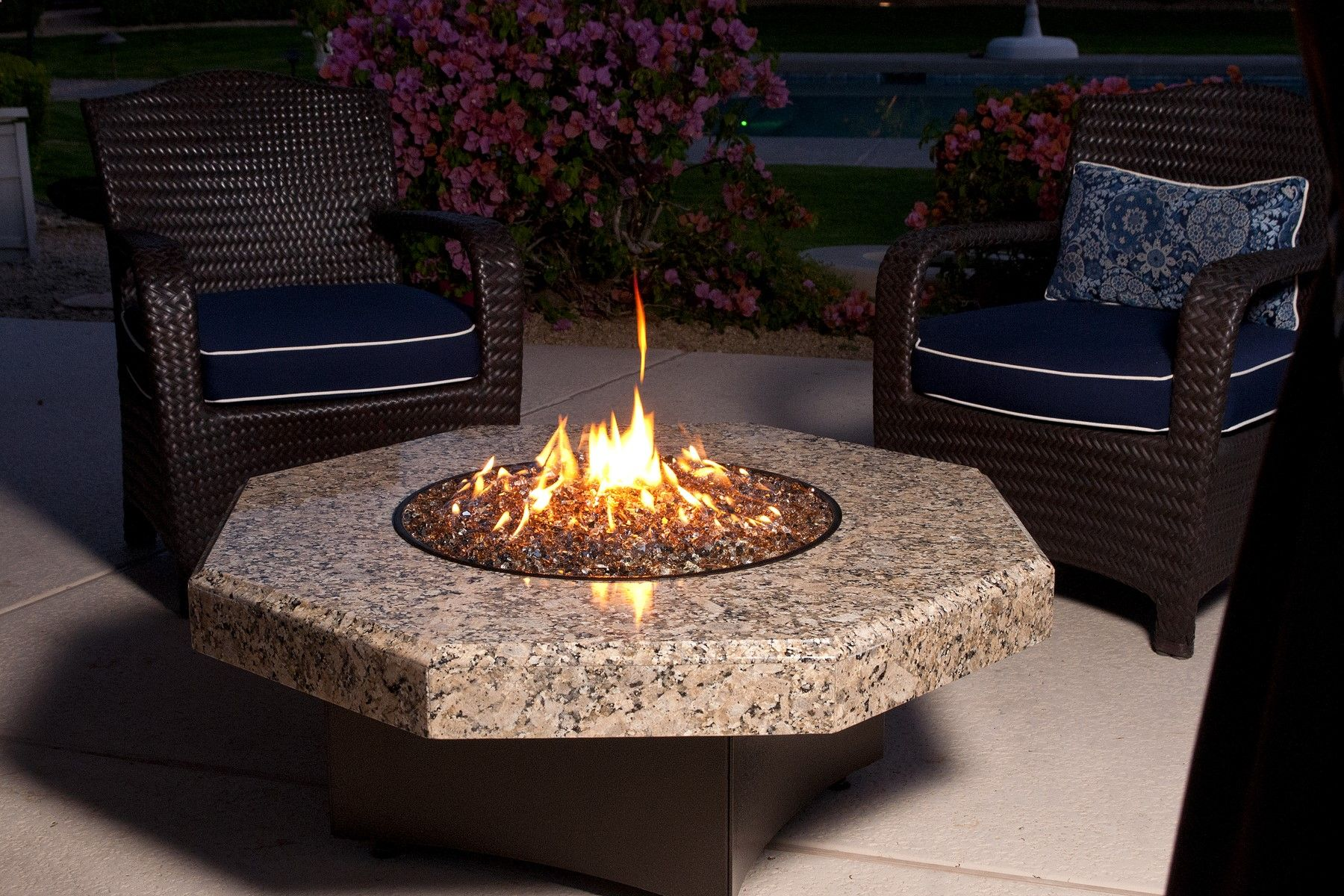 the oriflamme fire table is handcrafted in the u s a and is the