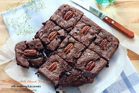 Cuisine Paradise | Singapore Food Blog | Recipes, Reviews And Travel: [Wordless Wednesday] Double Chocolate Chunk Brownie