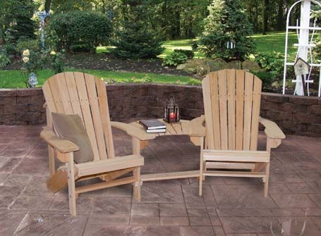 Sedie Adirondack ~ Connected adirondack chairs ☀ my lil paradise ☀