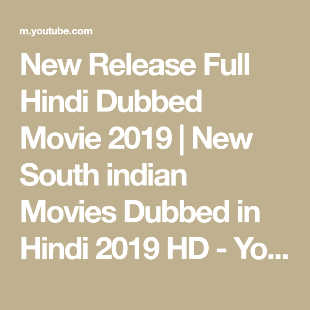 New Release Full Hindi Dubbed Movie 2019
