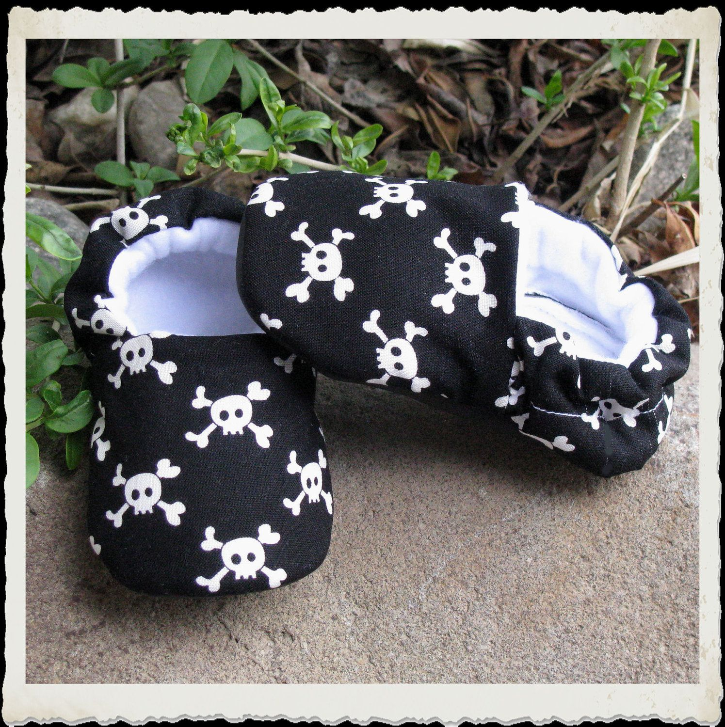 Skulls Soft Shoes for Baby to Toddler 13. $15.00, via Etsy.