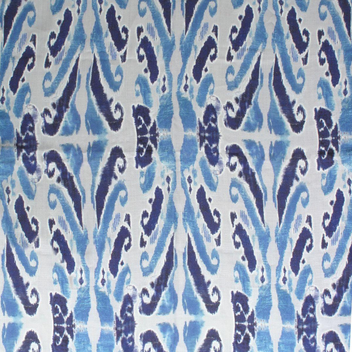 Moorea Island in Indigo from Old World Weavers/Stark #fabric #linen #ikat #blue