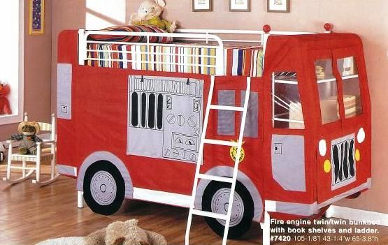 Fire Truck Bunk Bed W Toy Chest For Leo Pinterest Fire Trucks