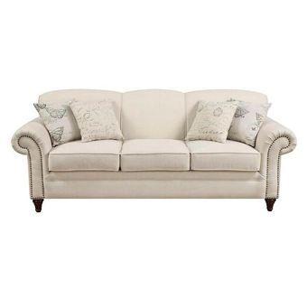 Nebraska Furniture Mart Traditional Sofa Cream Leather Sofa