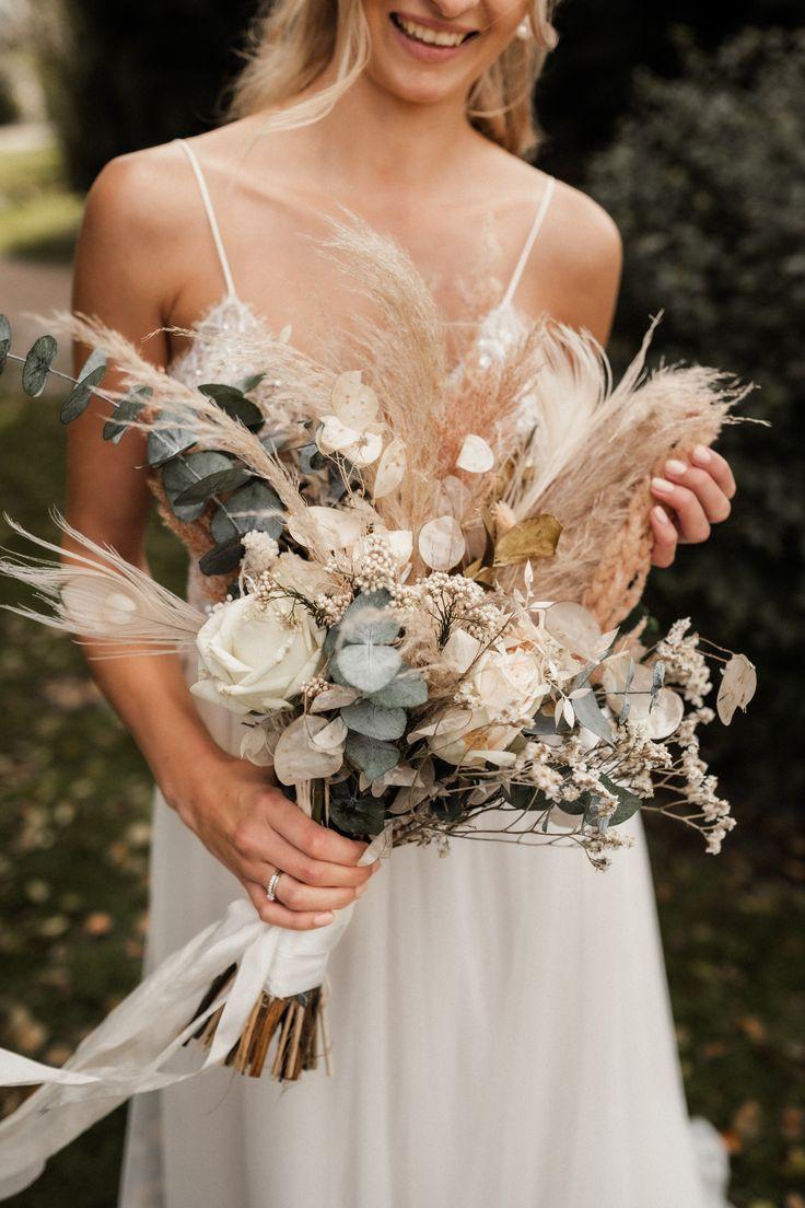 Boho Bouquet Pampasgras, Everlasting Flowers, Eukalyptus