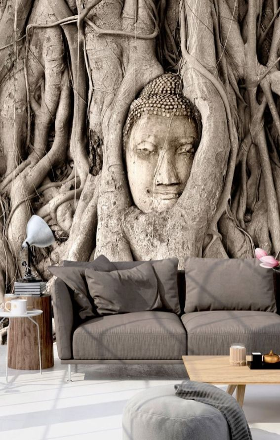 Vlies Fototapete 350x245 Cm Tapete Wandbilder Xxl Wandbild Bild Fototapeten Tapeten Wandtapete Wand Buddha Baume Mit Bildern Wandtapete Tapeten Buddha Dekoration