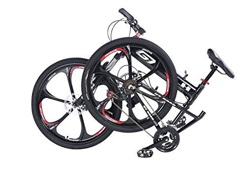 MTB Folding Mountain Bike 26″ 24 Speed Premium Aluminium Alloy Frame ...
