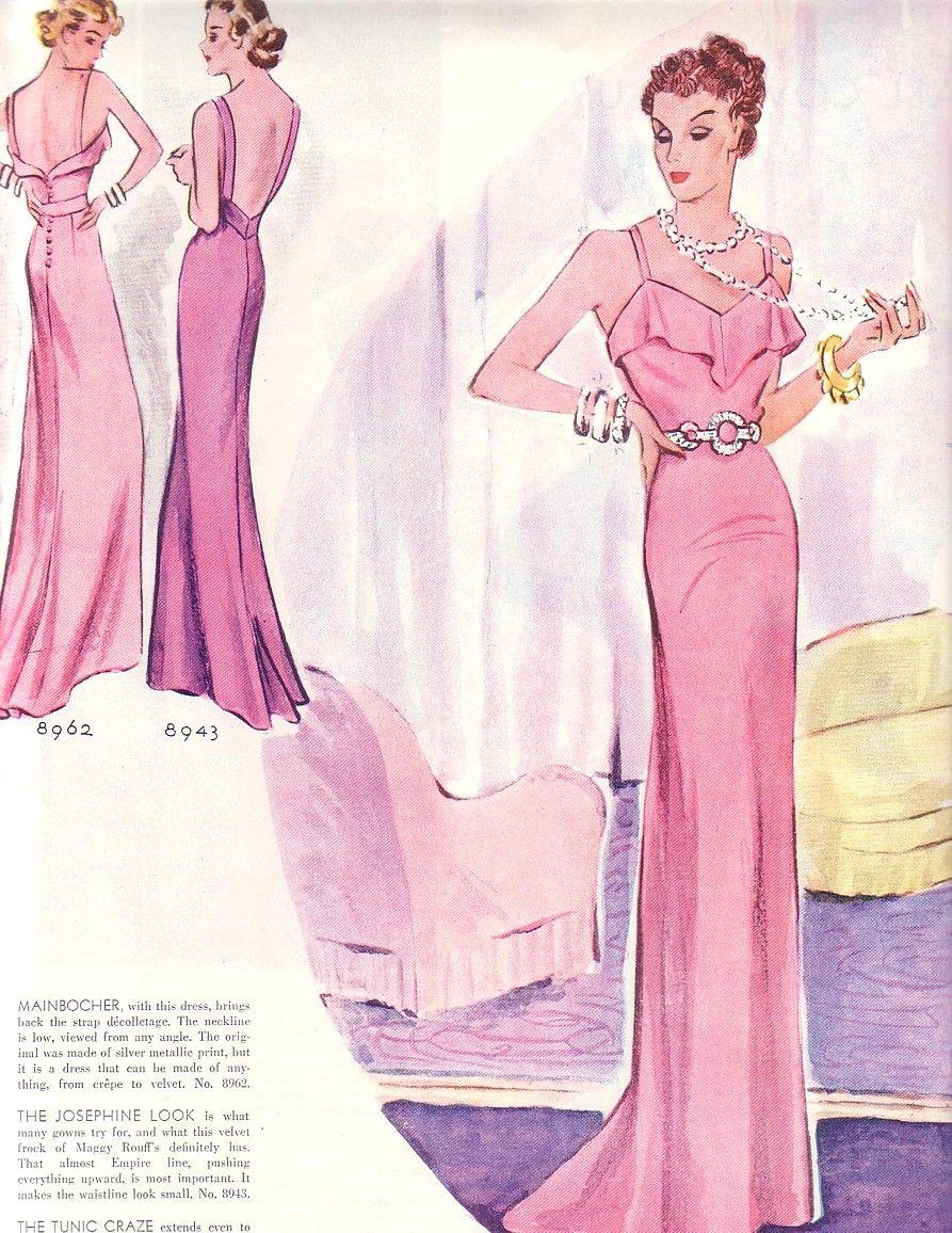 2019 year for women- Women?s 1930s evening fashion