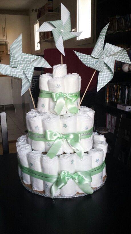 Gâteau de couches / Diapers Cake / DIY