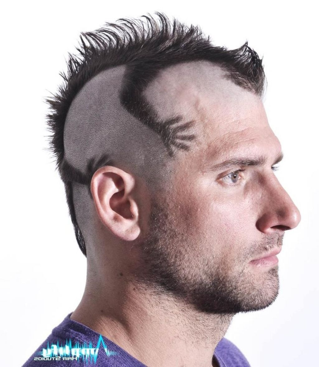 Funky Mens Mohawk Haircut Style Men Hairstyle Trend Funny Crazy What Do I Do With This To