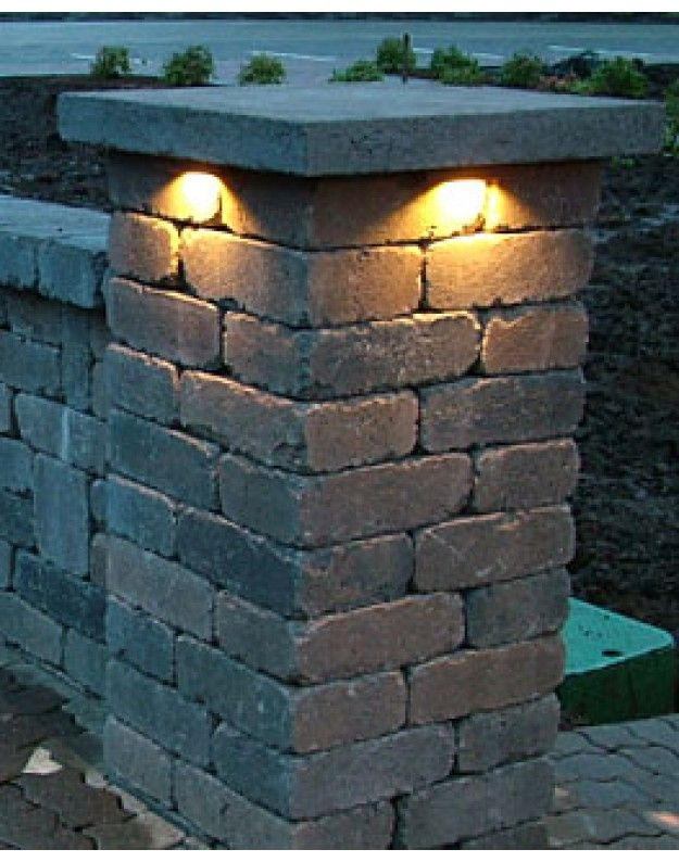More Refined Than This Retaining Wall Lighting Under Cap Jpg 625 794 Retaining Wall Lighting Retaining Wall Wall Lights