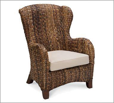 Seagrass Wingback Armchair   Wingback armchair, Armchair ...