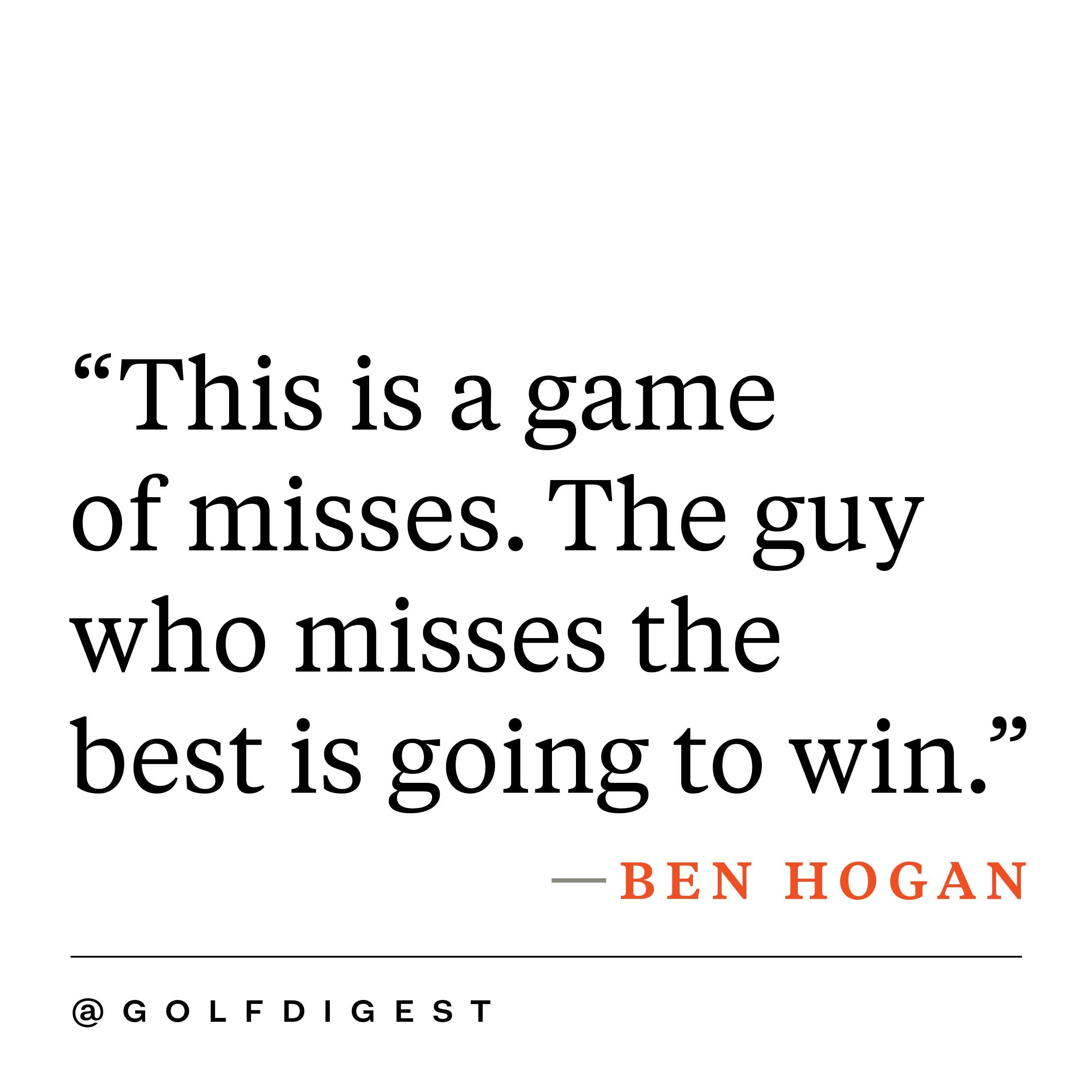 Quotes About Golf 21 Inspirational Golf Quotes Photos  Golf Digest  Golf