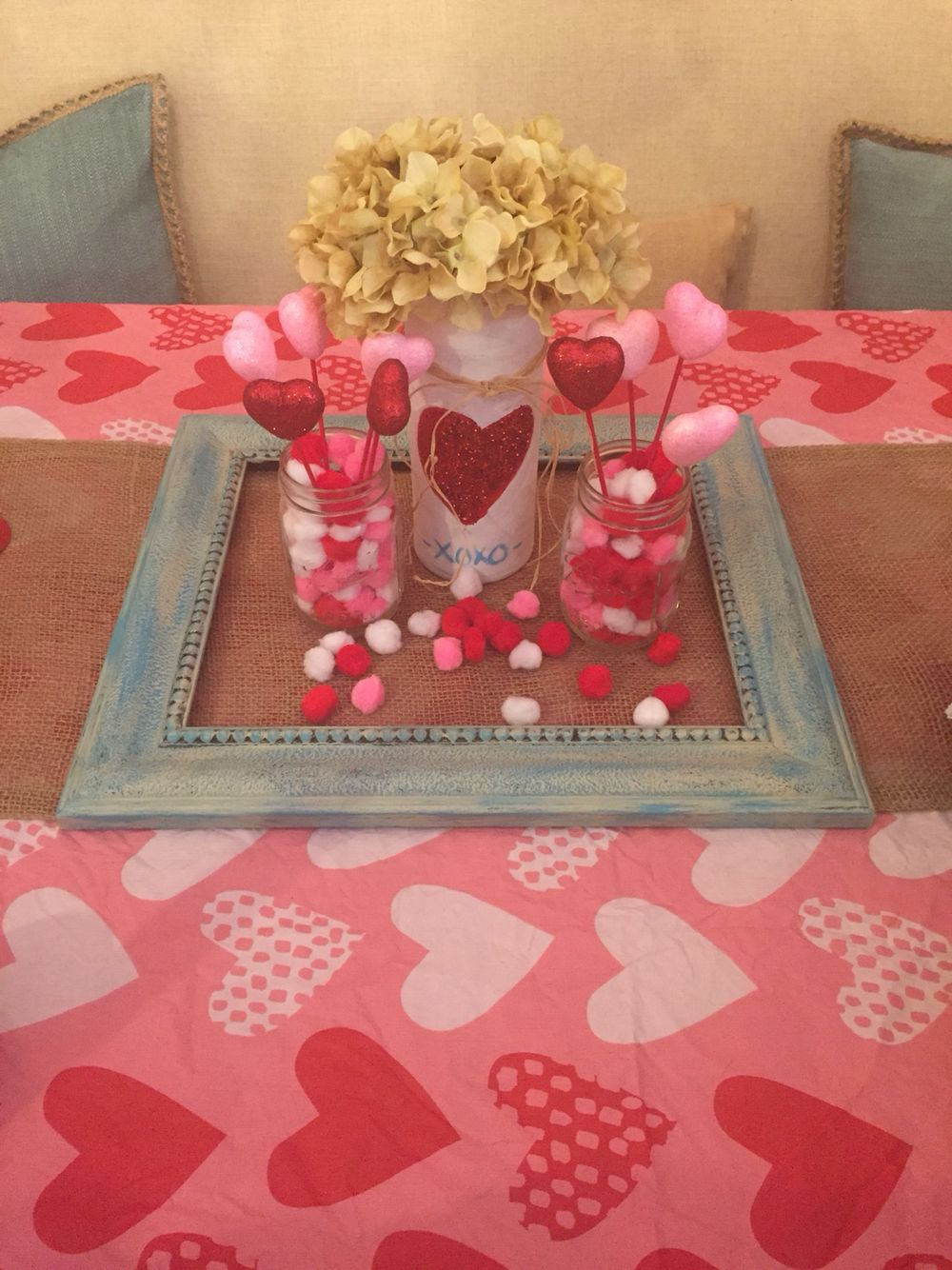 Valentine S Day Decor Dollar Store Crafts Hearts Hydrangeas