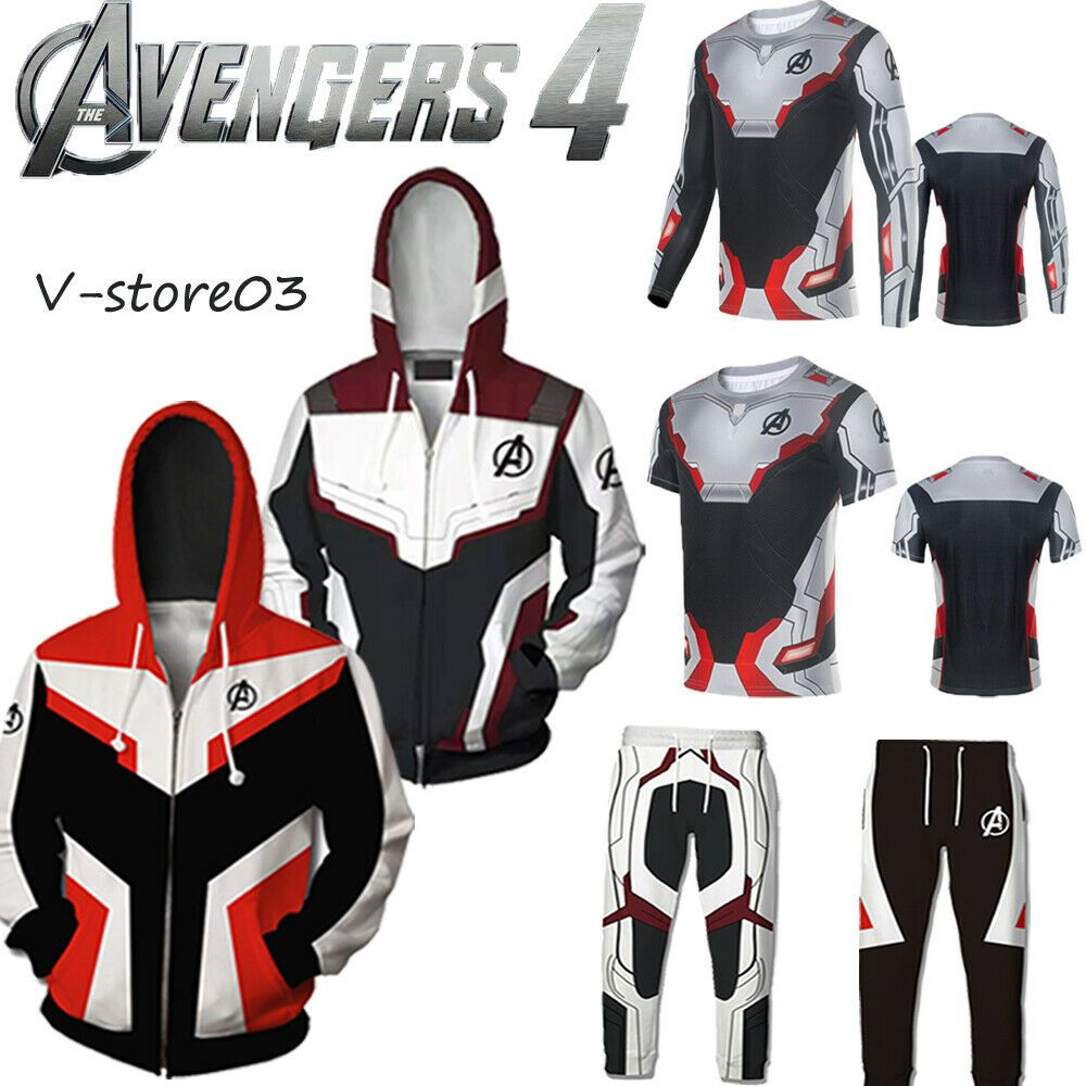 e0ce020d6 Avengers 4: Endgame Quantum Realm Battle Suit Cosplay Hooded Sweater ...
