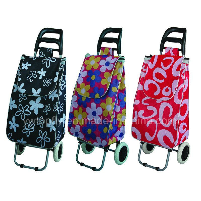 Hot Item Folding Supermarket Shopping Trolley Luggage Cart Oxford Bags Shopping Trolley Trolley Bags
