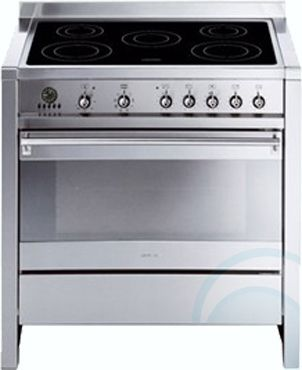 electric cooking stoves double electric upright ovensstoves u003e freestanding smeg ovenstove side by oven electric