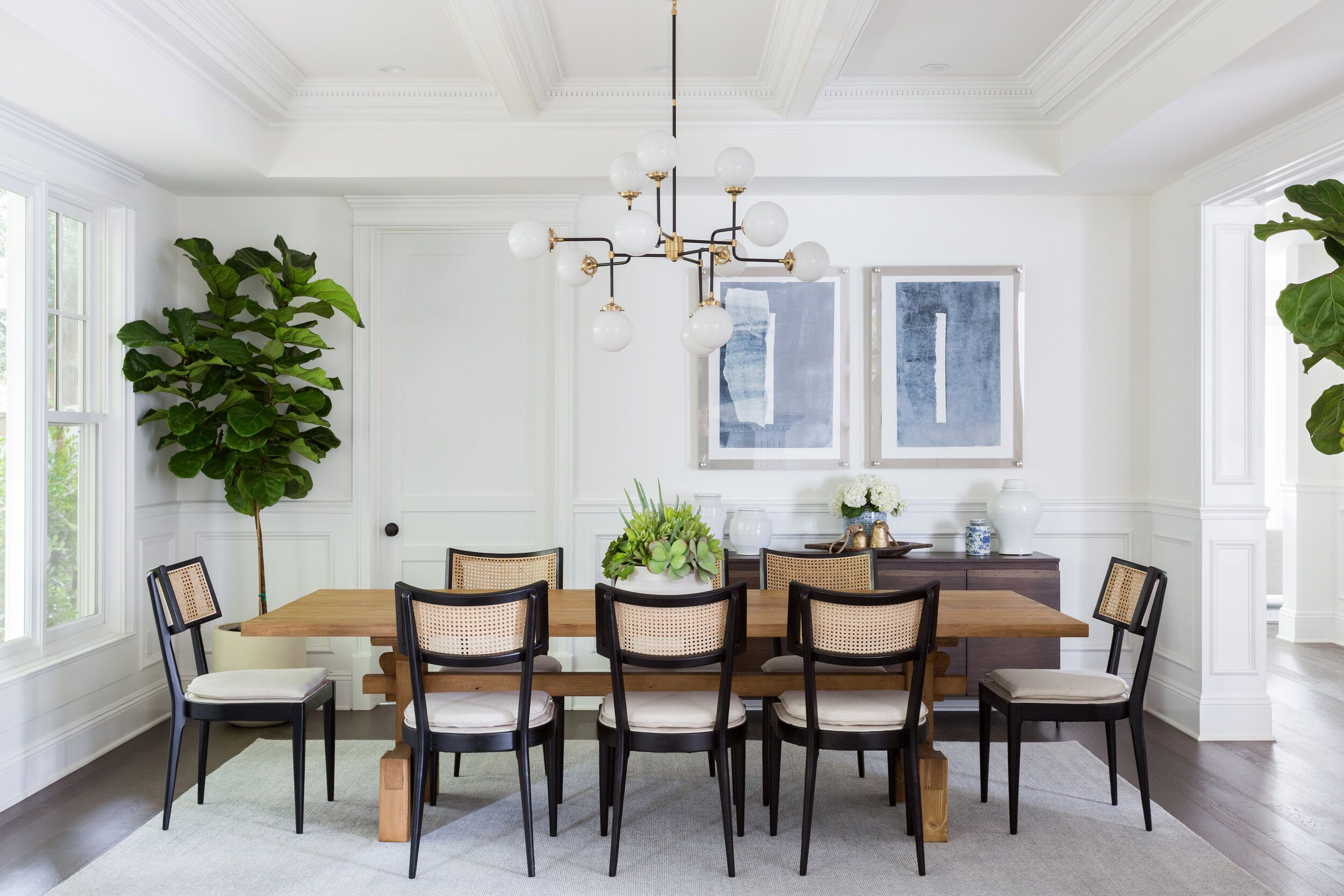Bright And Airy California Casual Living Room And Formal Dining Room By La Interior Designer Living Dining Room Transitional Dining Room French Dining Chairs