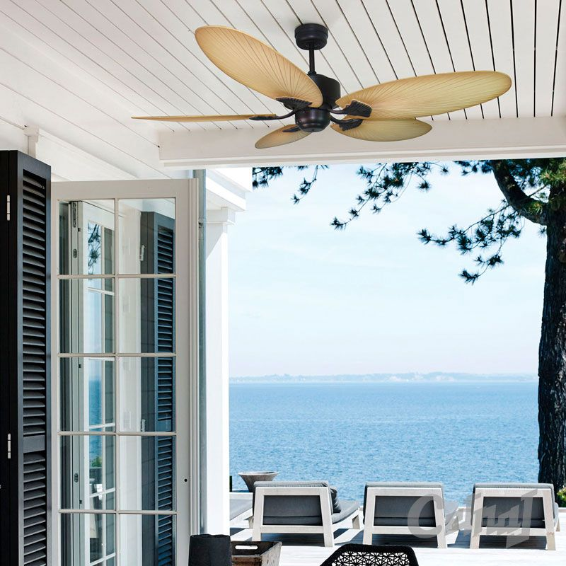 The Kewarra Ceiling Fan Is A Tropical Inspired 5 Blade From Mercator Lighting It Both Light And Remote Adaptable Comes With 3 Sd