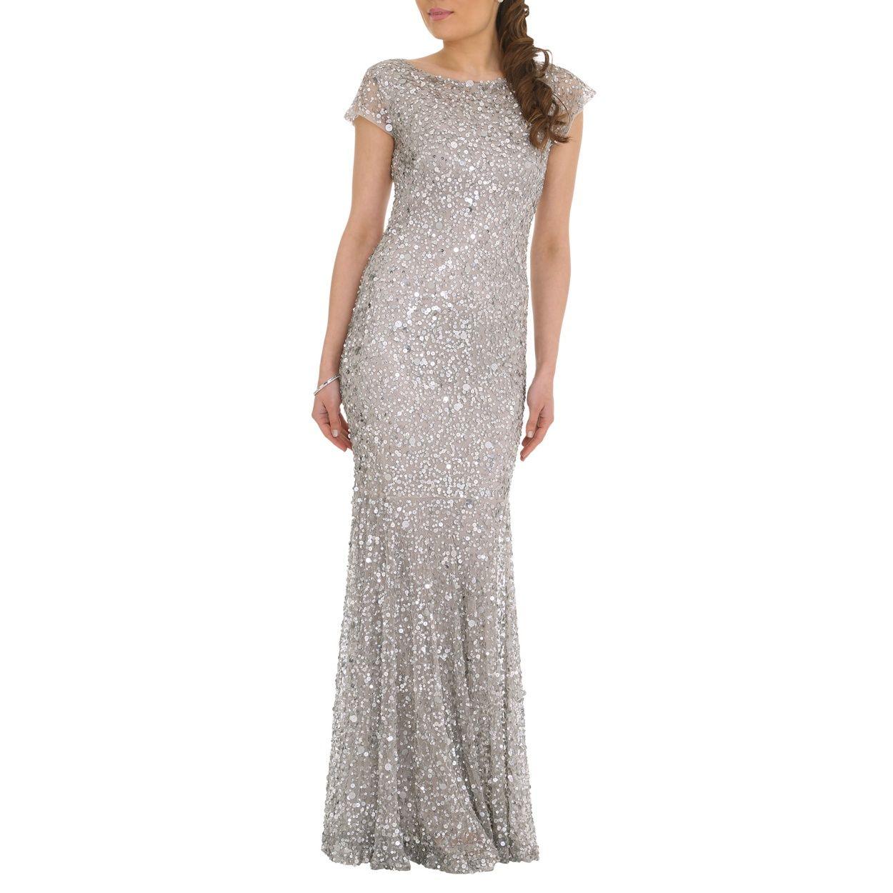 Rubyray Silver All Over Bead Dress At Debenhams