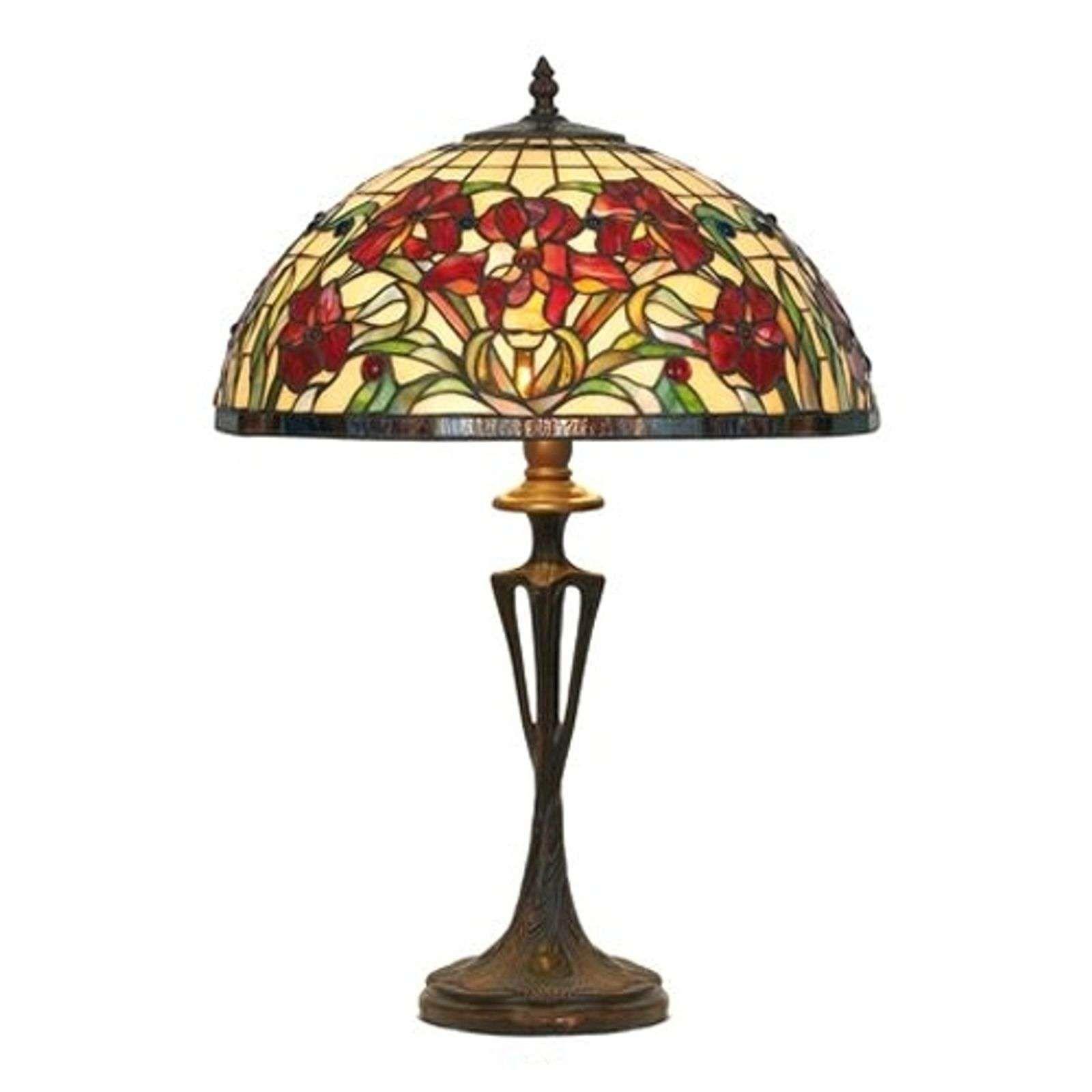 Tischleuchte Eline Im Tiffany Stil En 2020 Lampes De Table Luminaire Lampe A Poser
