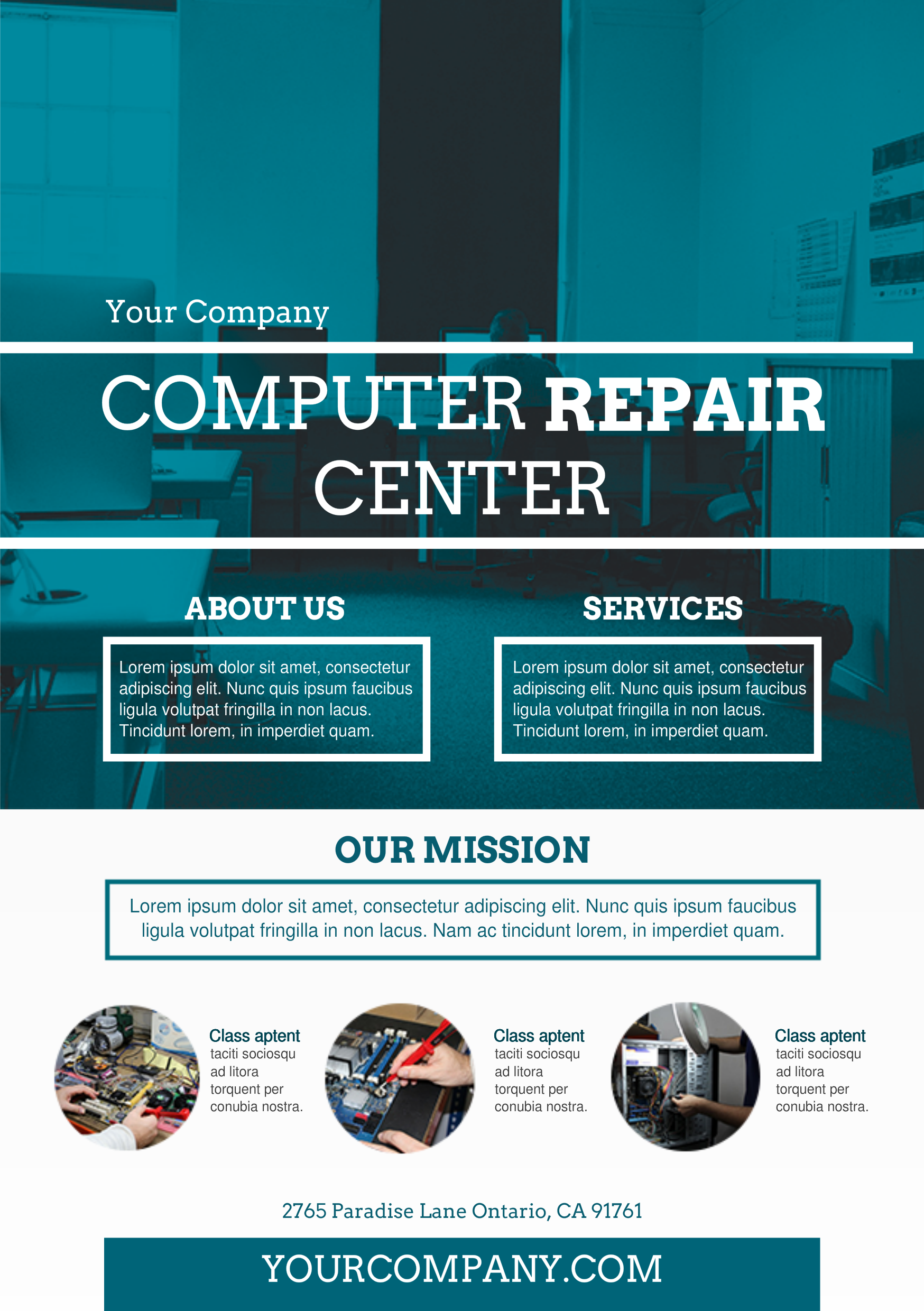 Computer repair services A5 promotional flyer http – Computer Repair Flyer Template