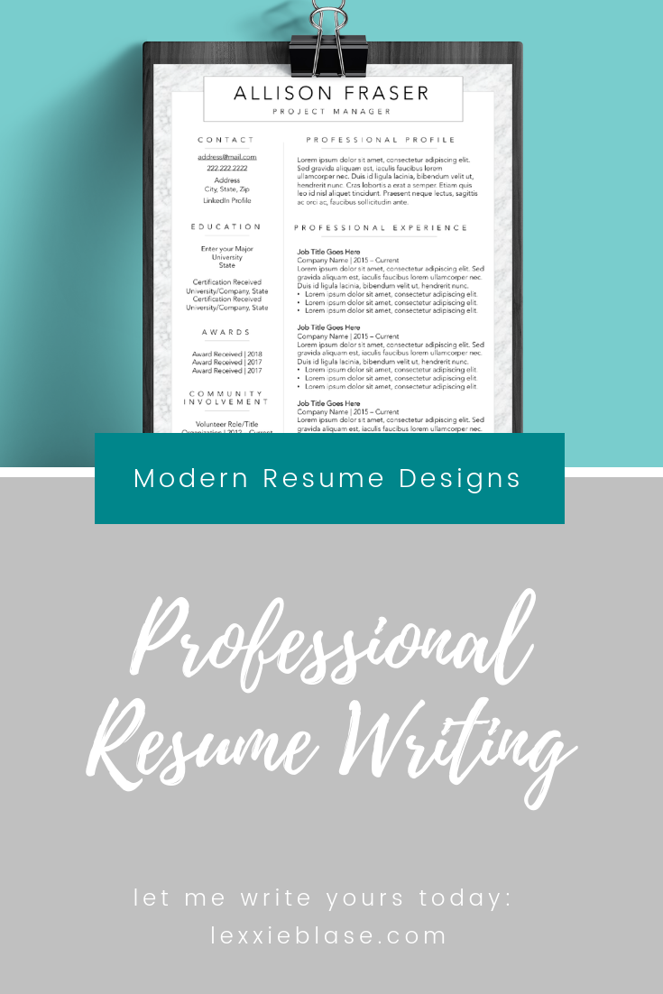Make resume writing simple by hiring me! I write resumes