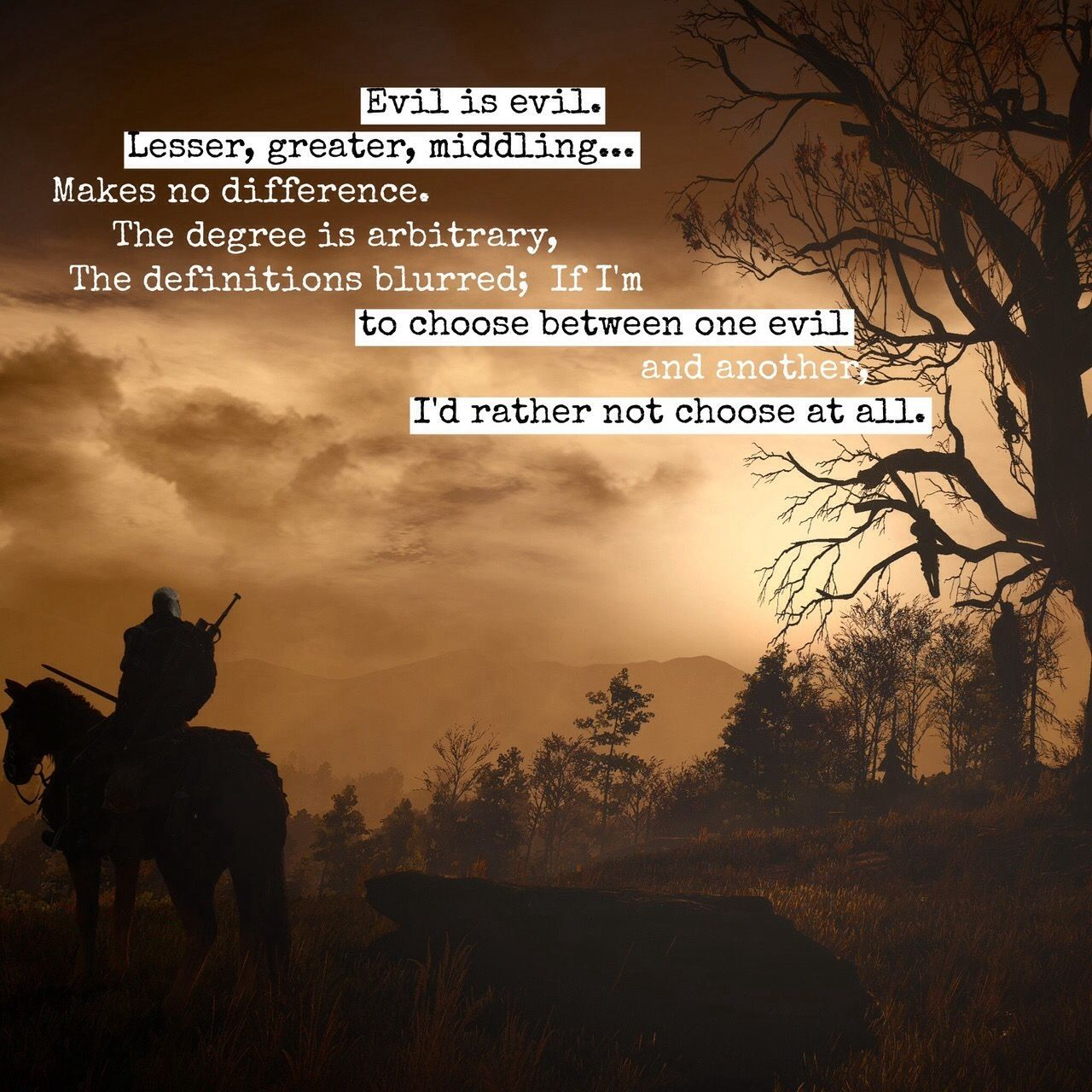 The Witcher 3: Wild Hunt   The witcher, The witcher quotes, Witcher quotes