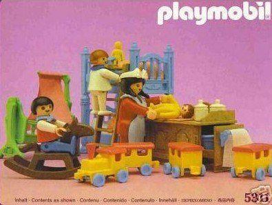 Amazon Com Playmobil 5311 Victorian Mansion Bedroom Nursery Toys