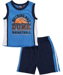 "bb966dc96f2a Mad Game Little Boys  ""Nothing but Dunk"" 2-Piece Outfit (Sizes 4 – 7)  5.99  Get your little athlete into this 2-piece from Mad Game!"