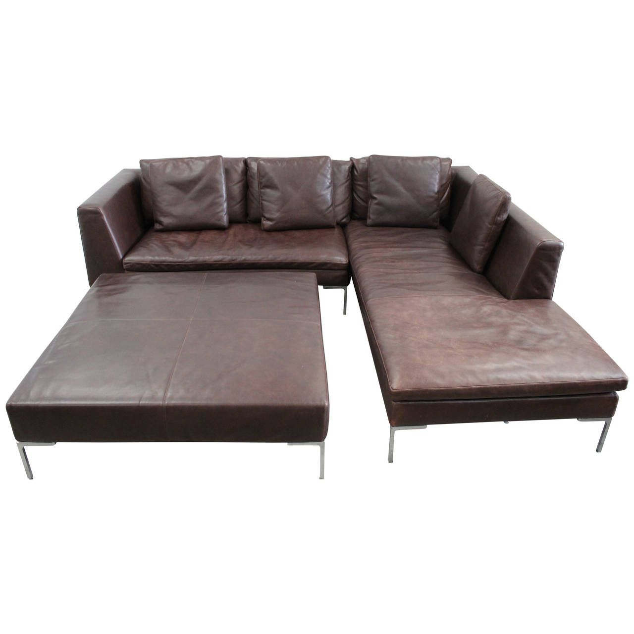 Pleasing Bb Italia Charles L Shape Sofa And Ottoman In Leather By Ibusinesslaw Wood Chair Design Ideas Ibusinesslaworg