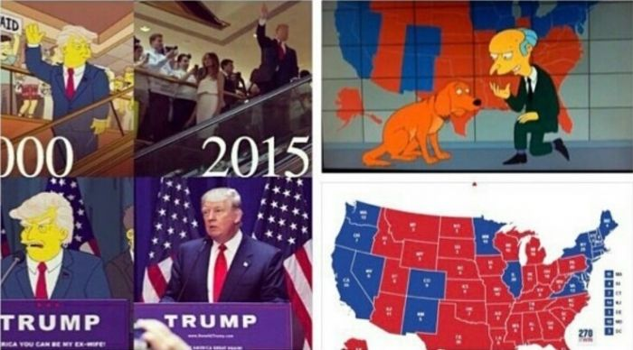 Not Only Did The Simpson Predicted Trump Winning They Even - Simpsons predictions trump us map