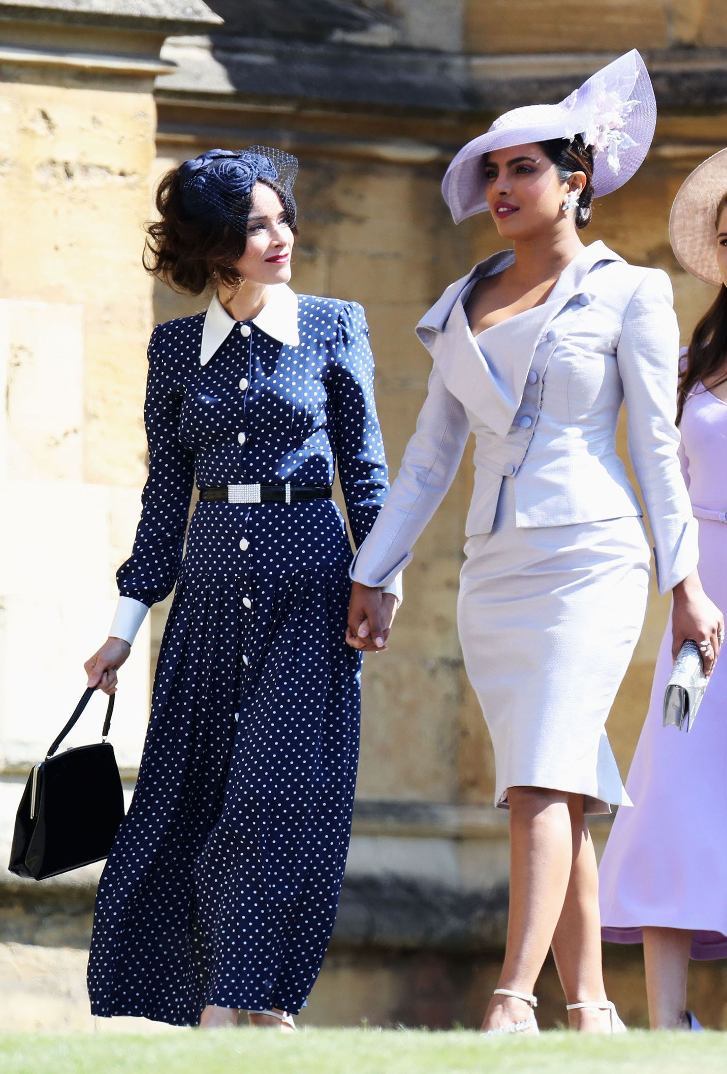 dc72184d7fa The Whole Suits Cast Arrives at the Royal Wedding- HarpersBAZAAR.com