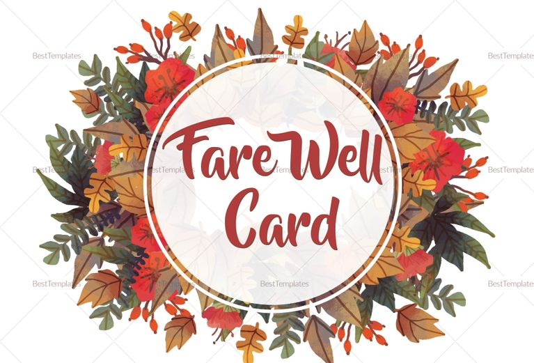 Goodbye Farewell Invitation Card Template Design Flyer Templates