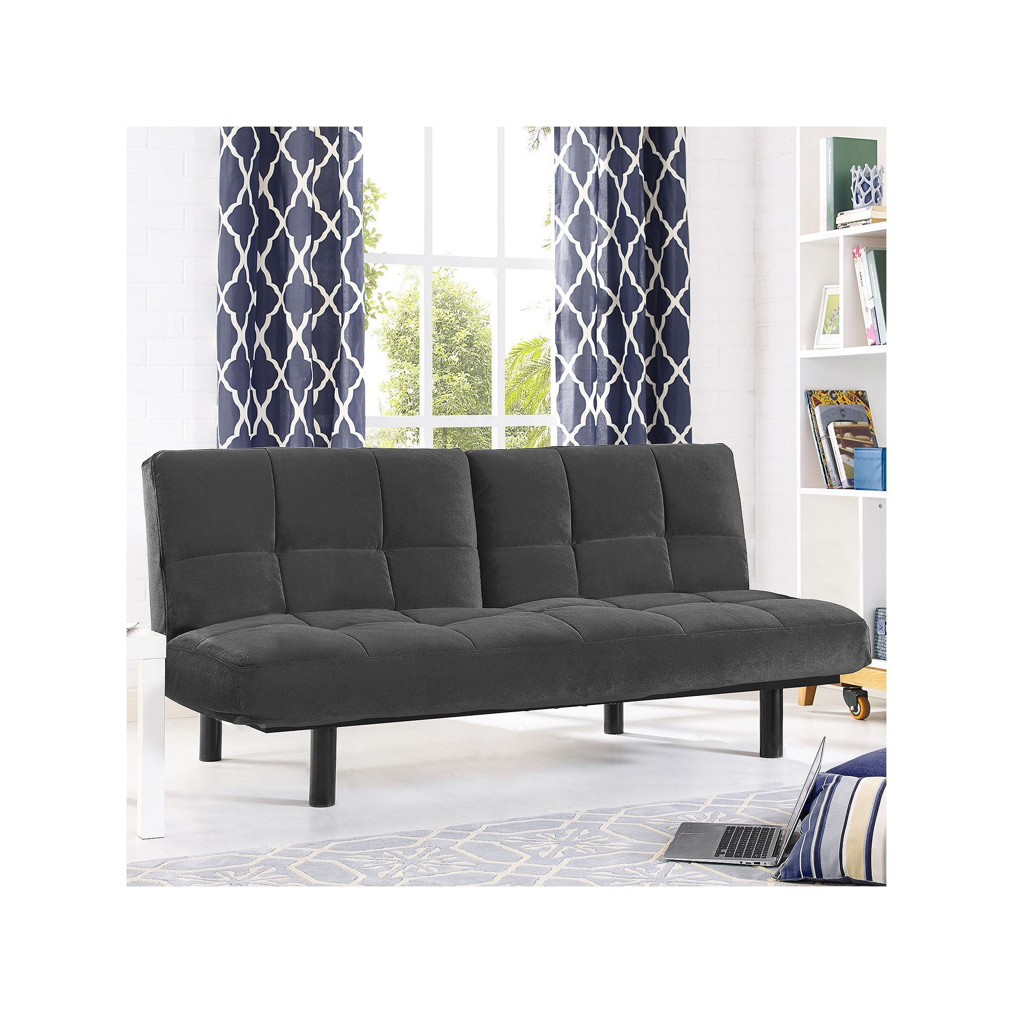 Serta Khloe Convertible Futon Sofa Bed Blue Navy
