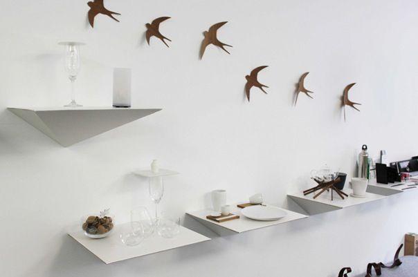 sleek cardboard shelf by freefold furniture