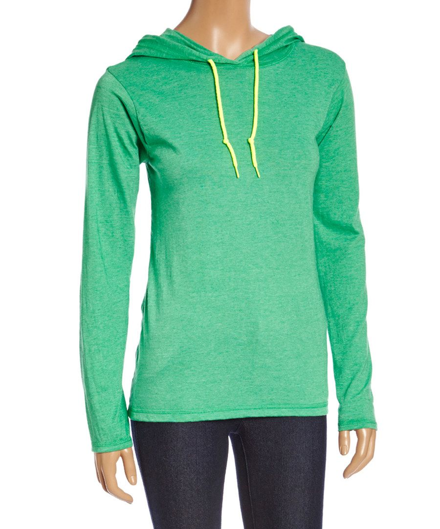 Look at this Kelly Green Hooded Sweatshirt on #zulily today!