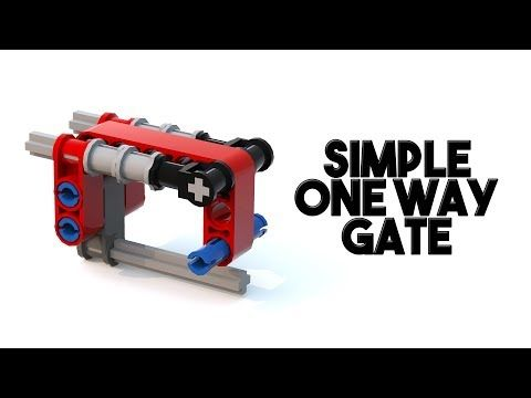 Simple One Way Gate For Fll With Building Instructions Youtube