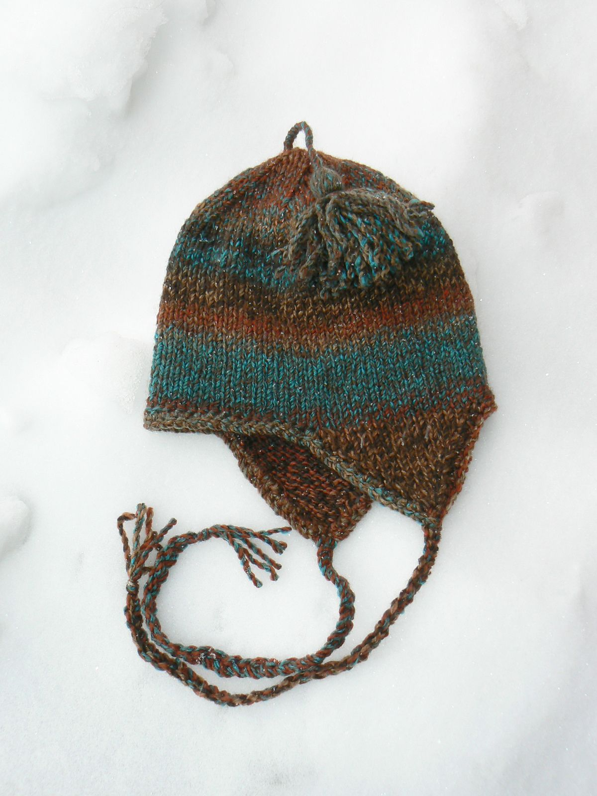 Very Basic Bulky Ear-flap Hat By Anne Carroll Gilmour - Free Knitted ...