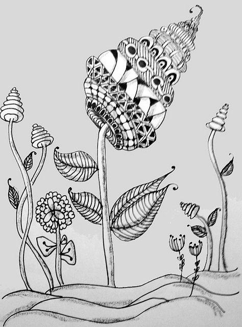 Fische im Tangle Design – gezeichnet von Hanne Türk. | Freude am ...