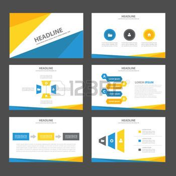 template powerpoint flat - Pesquisa Google Ref - Ideias Pinterest - powerpoint brochure template