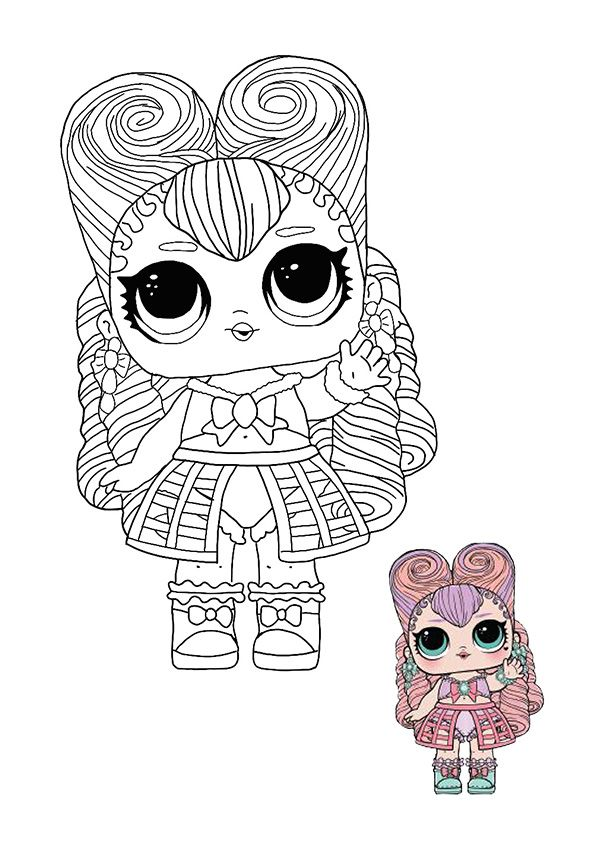 Lol Surprise Hairvibes Masquerade Coloring Page Cool Coloring Pages Cute Coloring Pages Free Coloring Sheets
