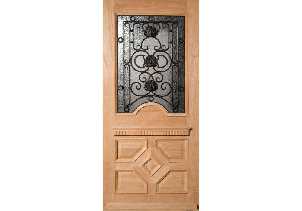 Lancaster Mahogany Lancaster Half Lite Door With Artistic