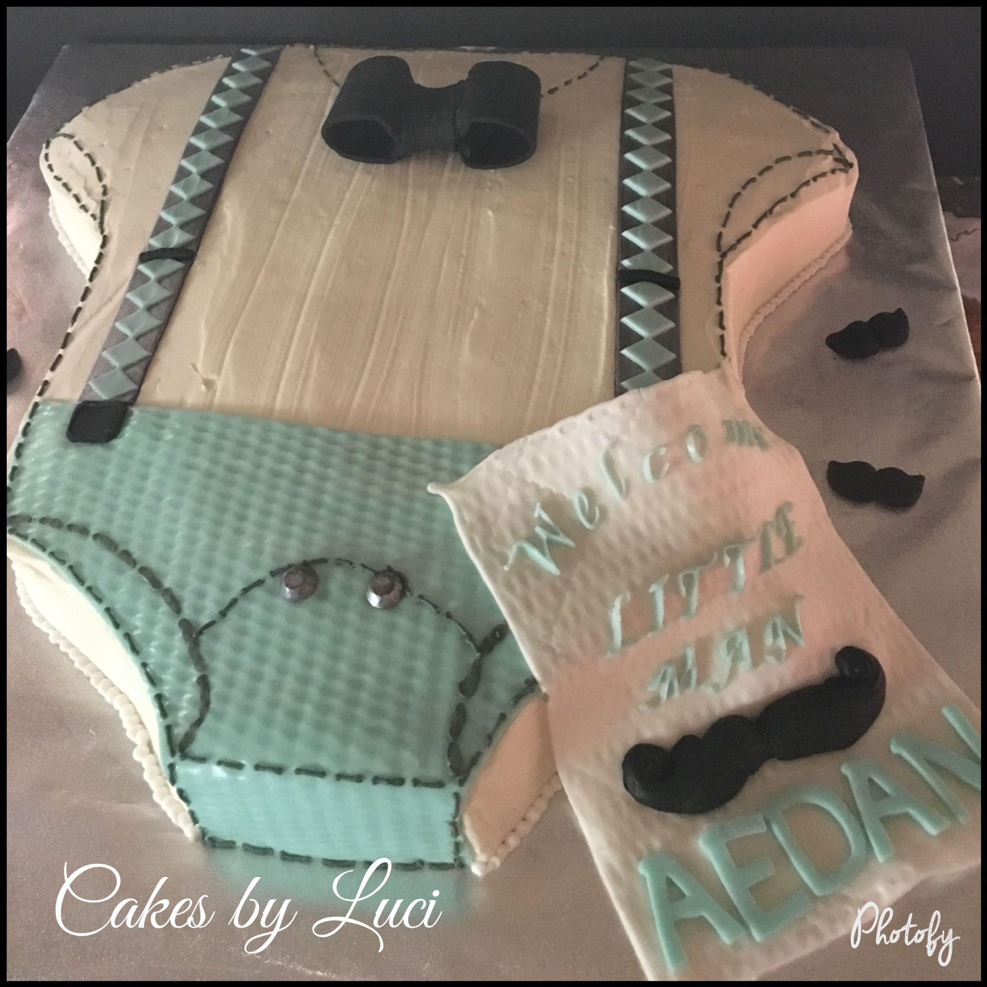 Tuxedo Onesie Baby Shower Cake Bow Ties Mustache And Baby