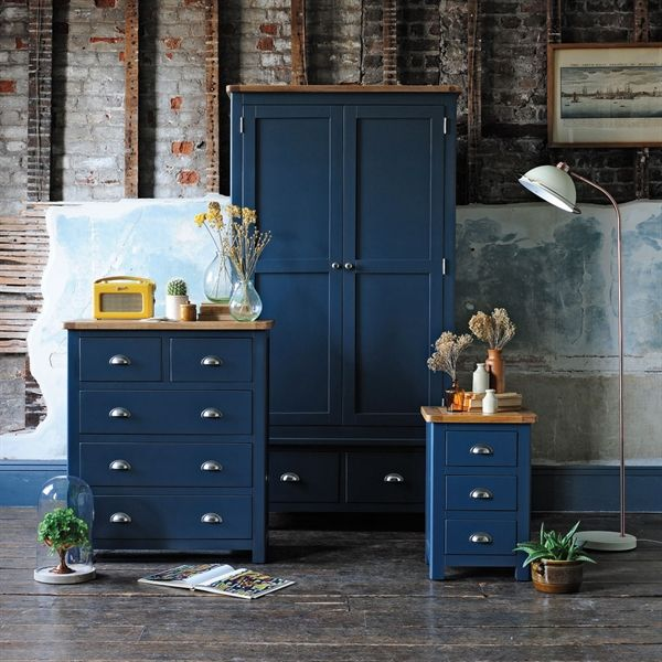 Westcote Blue Bedroom Set | Painted bedroom furniture, Blue ...